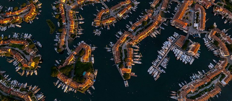 Cote d'Azur. Antibes and Port Grimaud - AirPano.com • 360° Aerial Panoramas • 360° Virtual Tours Around the World