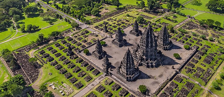 Prambanan Temple Compounds, Indonesia - AirPano.com • 360° Aerial Panoramas • 360° Virtual Tours Around the World