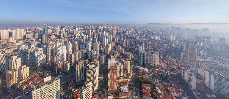 Sao Paulo Brazil 360 Aerial Panoramas 360 Virtual Tours Around