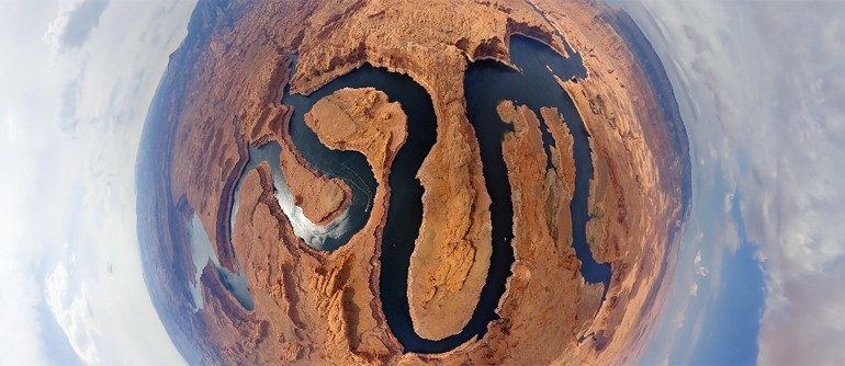 San Juan and Colorado rivers. Utah, USA - AirPano.com • 360° Aerial Panoramas • 360° Virtual Tours Around the World