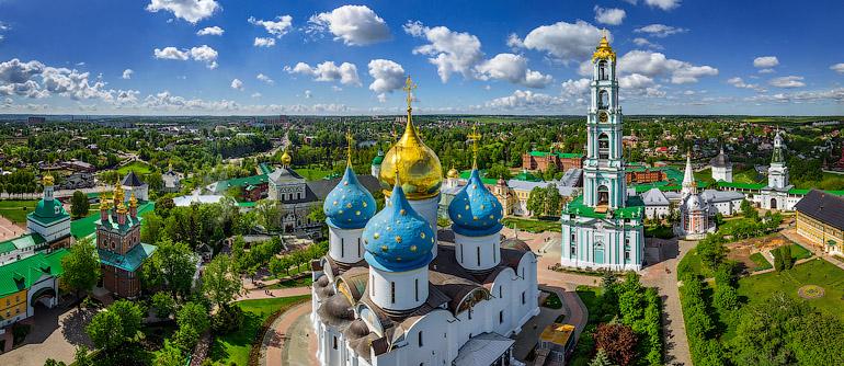 Golden Ring of Russia, Sergiyev Posad - AirPano.com • 360° Aerial Panoramas • 360° Virtual Tours Around the World