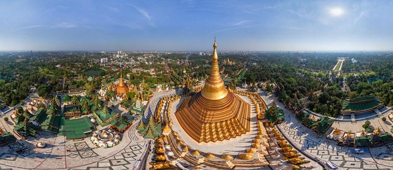 Shwedagon Pagoda, Myanmar - AirPano.com • 360° Aerial Panoramas • 360° Virtual Tours Around the World