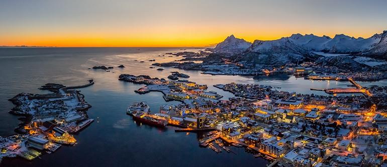 Svolaer, Lofoten archipelago, Norway - AirPano.com • 360° Aerial Panoramas • 360° Virtual Tours Around the World