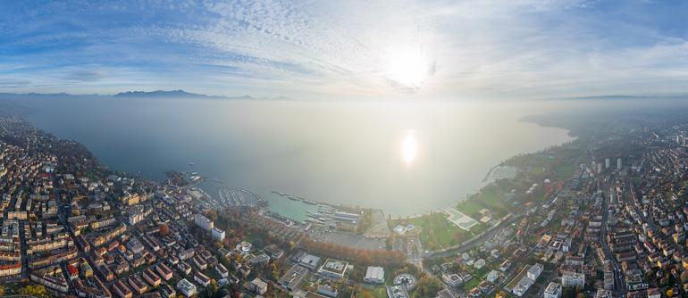 Swiss Riviera - AirPano.com • 360° Aerial Panoramas • 360° Virtual Tours Around the World