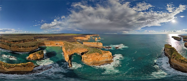 The Twelve Apostles Australia Aerial Panoramas - Incredible 360 degree aerial photography by andrew griffiths