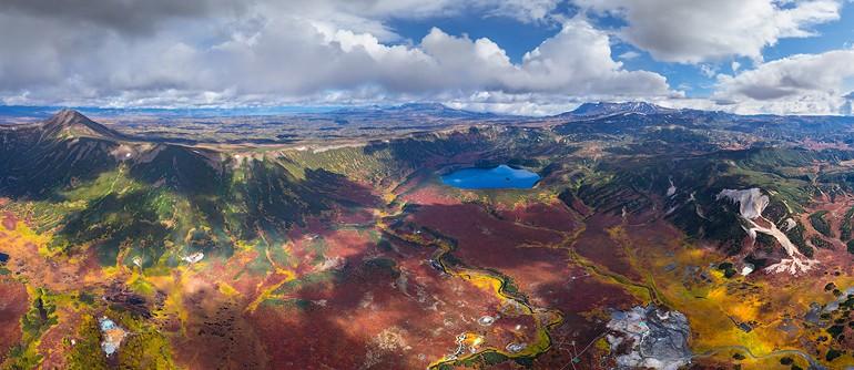Uzon caldera, Kamchatka, Russia. Part II - AirPano.com • 360° Aerial Panoramas • 360° Virtual Tours Around the World