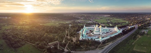 New Jerusalem Monastery, Russia - AirPano.com • 360° Aerial Panoramas • 360° Virtual Tours Around the World