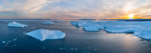 Icebergs of Greenland. Part IV - AirPano.com • 360° Aerial Panoramas • 360° Virtual Tours Around the World
