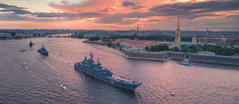 Rehearsal of the Russian Navy parade 2017 - AirPano.com • 360° Aerial Panoramas • 360° Virtual Tours Around the World