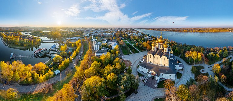 Golden Ring of Russia, Yaroslavl - AirPano.com • 360° Aerial Panoramas • 360° Virtual Tours Around the World