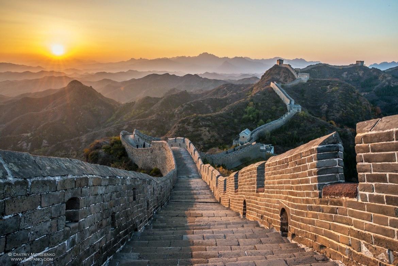 китайская стена картинки табуретку, обводим крышку