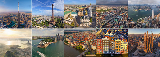 The most beautiful cities in the world • AirPano.com • 360 Degree Aerial Panorama • 3D Virtual Tours Around the World