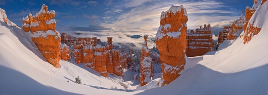 Bryce Canyon in Winter, Utah, USA - AirPano.com • 360 Degree Aerial Panorama • 3D Virtual Tours Around the World