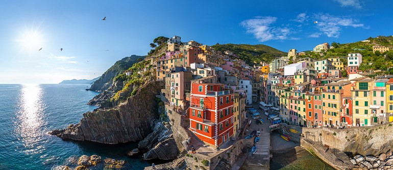 Riomaggiore, Cinque Terre, Italy - AirPano.com • 360° Aerial Panoramas • 360° Virtual Tours Around the World