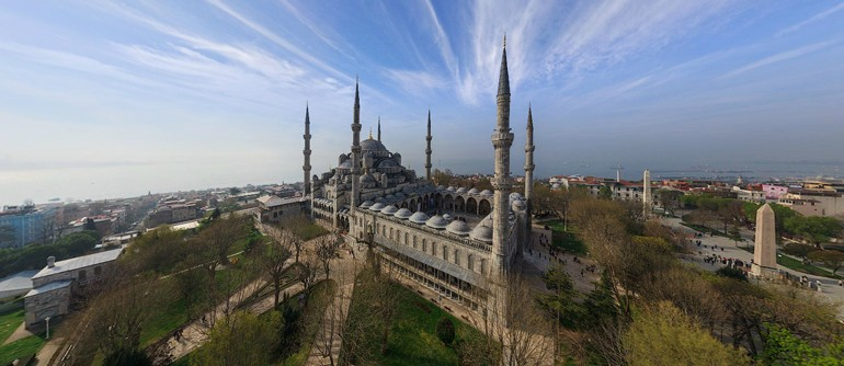 Most Famous Mosques in Istanbul, Turkey - AirPano.com • 360° Aerial Panoramas • 360° Virtual Tours Around the World