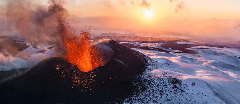 Volcano Plosky Tolbachik, Kamchatka, Russia, 2012 - AirPano.com • 360� Aerial Panorama • 3D Virtual Tours Around the World