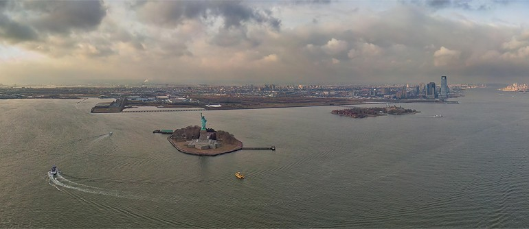 Statue of Liberty, Liberty Island, New York, USA - AirPano.com • 360� Aerial Panorama • 3D Virtual Tours Around the World