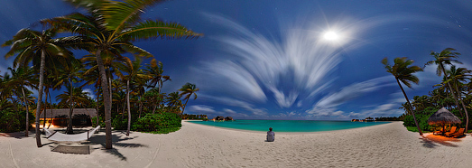 Мальдивы ночью, остров Reethi Rah - AirPano.ru • 360 Degree Aerial Panorama • 3D Virtual Tours Around the World