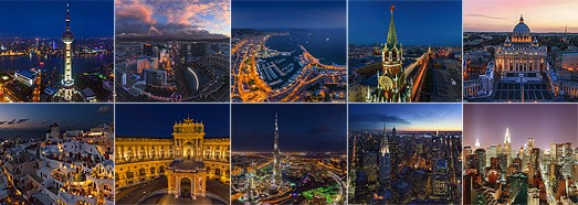 Ночные города - AirPano.ru • 360 Degree Aerial Panorama • 3D Virtual Tours Around the World