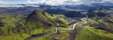 Fjallabak Nature Reserve, Iceland • AirPano.com • 360 Degree Aerial Panorama • 3D Virtual Tours Around the World