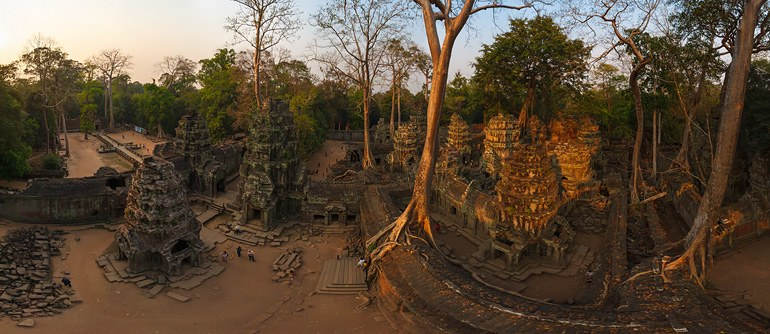 Ta Prohm temple, Angkor, Cambodia - AirPano.com • 360� Aerial Panorama • 3D Virtual Tours Around the World