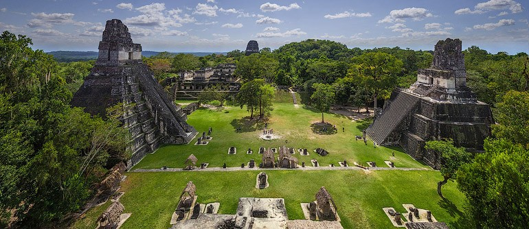Maya Pyramids, Tikal, Guatemala - AirPano.com • 360� Aerial Panorama • 3D Virtual Tours Around the World