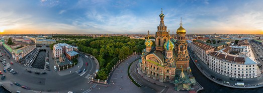 Храм Спаса на Крови, Санкт-Петербург, Россия - AirPano.ru • 360 Degree Aerial Panorama • 3D Virtual Tours Around the World